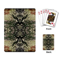 Winter Colors Collage Playing Cards Single Design by dflcprints