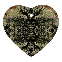 Winter Colors Collage Heart Ornament (two Sides) by dflcprints