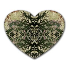 Winter Colors Collage Mouse Pad (heart) by dflcprints