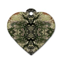 Winter Colors Collage Dog Tag Heart (one Sided)  by dflcprints