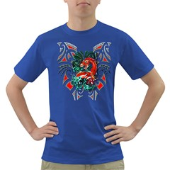 Tribal Dragon Men s T Shirt (colored) by TheWowFactor