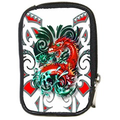 Tribal Dragon Compact Camera Leather Case by TheWowFactor
