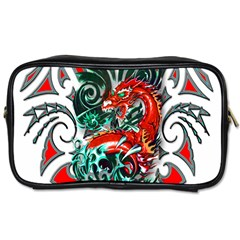 Tribal Dragon Travel Toiletry Bag (one Side) by TheWowFactor