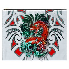 Tribal Dragon Cosmetic Bag (xxxl) by TheWowFactor