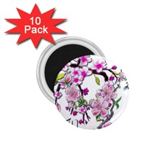 Cherry Bloom Spring 1 75  Button Magnet (10 Pack) by TheWowFactor
