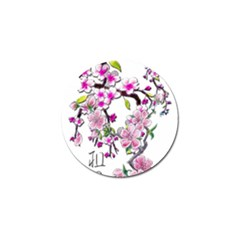 Cherry Bloom Spring Golf Ball Marker 4 Pack by TheWowFactor