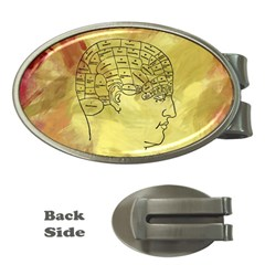 Brain Map Money Clip (oval) by StuffOrSomething