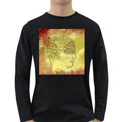 Brain Map Men s Long Sleeve T Shirt (dark Colored) by StuffOrSomething