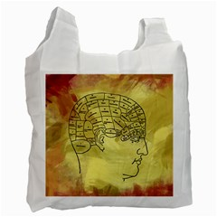 Brain Map White Reusable Bag (one Side) by StuffOrSomething