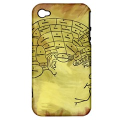 Brain Map Apple Iphone 4/4s Hardshell Case (pc+silicone) by StuffOrSomething