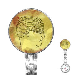 Brain Map Stainless Steel Nurses Watch by StuffOrSomething