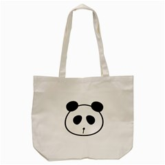 Panda By Divad Brown   Tote Bag (cream)   4thane74075e   Www Artscow Com Front