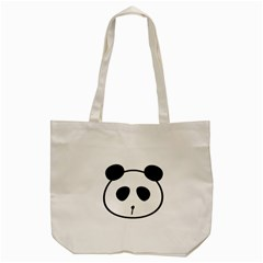 Panda By Divad Brown   Tote Bag (cream)   4thane74075e   Www Artscow Com Back