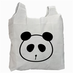 Panda By Divad Brown   Recycle Bag (two Side)   630hktci5cpd   Www Artscow Com Front