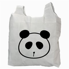 Panda By Divad Brown   Recycle Bag (two Side)   630hktci5cpd   Www Artscow Com Back