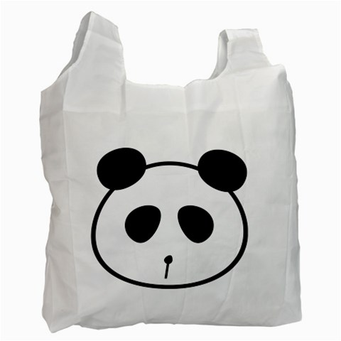 Panda By Divad Brown   Recycle Bag (one Side)   Vlg7zxieujo1   Www Artscow Com Front