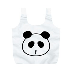 Panda By Divad Brown   Full Print Recycle Bag (m)   Dv567itsb8ir   Www Artscow Com Front