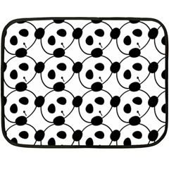 Panda By Divad Brown   Double Sided Fleece Blanket (mini)   Dv9nvddggstz   Www Artscow Com 35 x27 Blanket Back