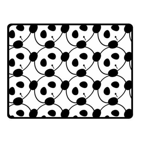 Panda By Divad Brown   Fleece Blanket (small)   Csvw962y7ua8   Www Artscow Com 50 x40 Blanket Front