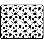 panda - Double Sided Fleece Blanket (Medium)