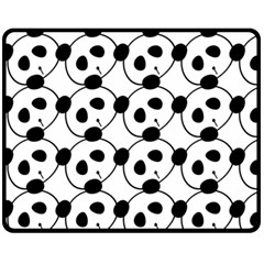 Panda By Divad Brown   Double Sided Fleece Blanket (medium)   Hv4p5kuh8044   Www Artscow Com 60 x50 Blanket Back