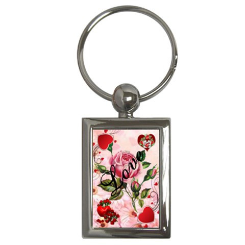 Love Key Chain Rectangle By Kim Blair   Key Chain (rectangle)   M92g4jj5f014   Www Artscow Com Front