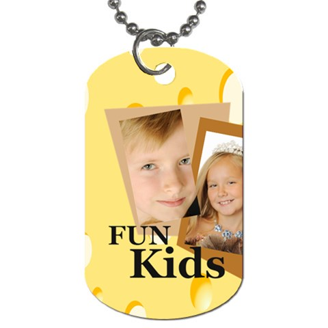 Kids By Kids   Dog Tag (one Side)   10vf3kewaw7l   Www Artscow Com Front