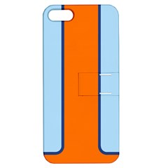 Gulf No Logo Apple Iphone 5 Hardshell Case With Stand by PocketRacers