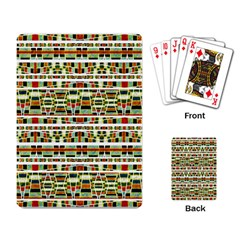 Aztec Grunge Pattern Playing Cards Single Design by dflcprints