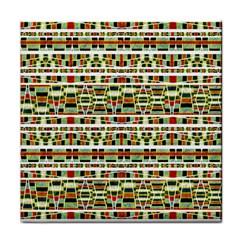 Aztec Grunge Pattern Face Towel by dflcprints