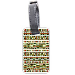 Aztec Grunge Pattern Luggage Tag (two Sides)
