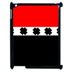 Red, White And Black With X s Electronic Accessories Apple Ipad 2 Case (black) by Khoncepts