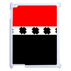 Red, White And Black With X s Electronic Accessories Apple Ipad 2 Case (white) by Khoncepts