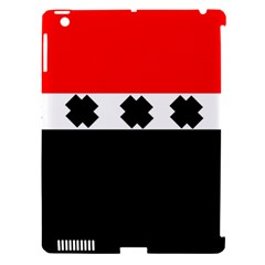 Red, White And Black With X s Electronic Accessories Apple Ipad 3/4 Hardshell Case (compatible With Smart Cover) by Khoncepts