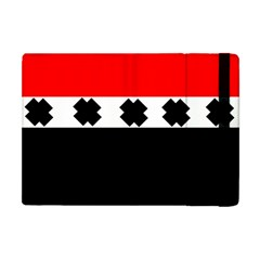 Red, White And Black With X s Electronic Accessories Apple Ipad Mini Flip Case by Khoncepts