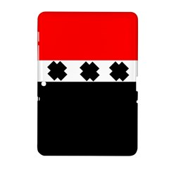 Red, White And Black With X s Electronic Accessories Samsung Galaxy Tab 2 (10 1 ) P5100 Hardshell Case