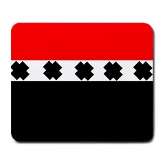 Red, White And Black With X s Design By Celeste Khoncepts Large Mouse Pad (rectangle) by Khoncepts