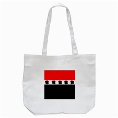 Red, White And Black With X s Design By Celeste Khoncepts Tote Bag (white) by Khoncepts