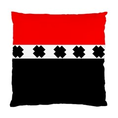 Red, White And Black With X s Design By Celeste Khoncepts Cushion Case (two Sided)