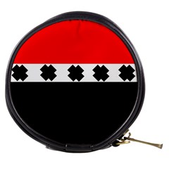 Red, White And Black With X s Design By Celeste Khoncepts Mini Makeup Case by Khoncepts