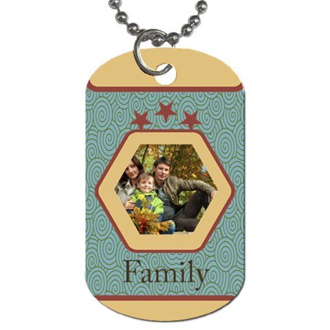 Family By Family   Dog Tag (one Side)   2eozsvq5pd3c   Www Artscow Com Front