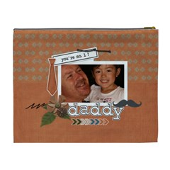 Cosmetic Bag (xl) : Dad 1 By Jennyl   Cosmetic Bag (xl)   Rflkenkv07cf   Www Artscow Com Back