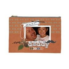 Cosmetic Bag (l) : Dad 1 By Jennyl   Cosmetic Bag (large)   Obxzyiuc21ck   Www Artscow Com Front
