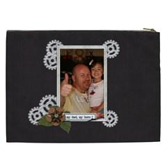 Cosmetic Bag (xxl) : Dad 2 By Jennyl   Cosmetic Bag (xxl)   U6iuta9jg5ni   Www Artscow Com Back