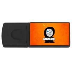 Orange Funny Too Much Coffee 4gb Usb Flash Drive (rectangle) by CreaturesStore