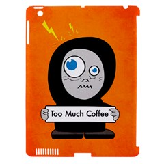 Orange Funny Too Much Coffee Apple iPad 3/4 Hardshell Case (Compatible with Smart Cover) by CreaturesStore
