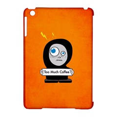 Orange Funny Too Much Coffee Apple Ipad Mini Hardshell Case (compatible With Smart Cover) by CreaturesStore