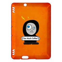 Orange Funny Too Much Coffee Kindle Fire Hdx 7  Hardshell Case by CreaturesStore