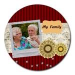 family - Round Mousepad