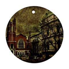 Dark Citiy Round Ornament by dflcprints